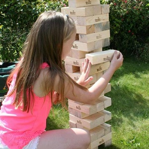 Hi-Tower Garden Wooden Tower Block Building Game